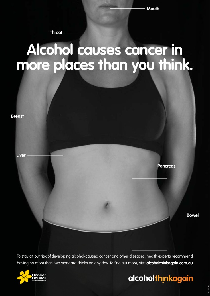Alcohol and Cancer 'Could Happen to You' | Western Australia