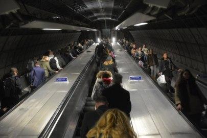 underground escalator